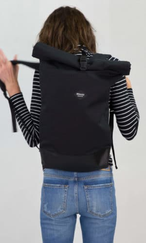 Sac à dos Noir « roll-top » – Braasi